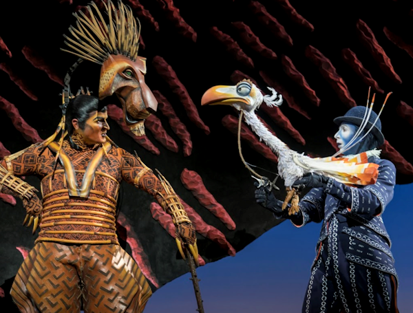 Richard Hurst (Scar) and Matthew Forbes (Zazu). Copyright Disney
